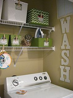 Eat. Sleep. Decorate.: Laundry Closet Makeover- Before & After. Note to self, organize laundry room and print those great labels!