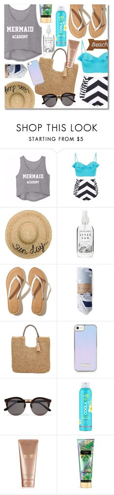 """Sun Day."" by iitselizabeth ❤ liked on Polyvore featuring Eugenia Kim, Herbivore, Hollister Co., John Lewis, Illesteva, COOLA Suncare, La Mer, Victoria's Secret and Mud Pie"