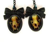 Mink Skull  Bone Jewelry  Animal Bone Jewelry  by RainsWonderland
