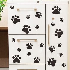 Paw Print Repeatable Pattern Vinyl Wall Decals Dog Paw Print - Vinyl wall decals removable   how to remove