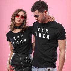 Better Together Matching T-Shirts for Couples His & Hers T-shirts Lovers Clothes Honeymoon T Shirt Valentine Wedding Gift - Wify Shirt - Ideas of Wify Shirt - Better Together Matching T-Shirts for Couples His & Hers T-shirts Love mydealsite Matching Couple Outfits, Matching Couples, Matching Shirts, Couple Tee Shirts, Lgbt T Shirts, Valentines Day Shirts, T Shirts For Women, T Shirts For Couples, Fit Couples