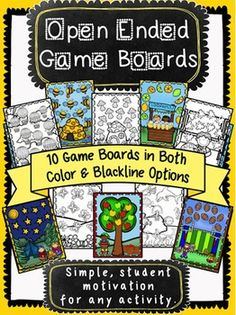 Open Ended Game Boards **now completely updated with blackline versions**