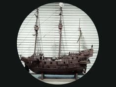 Scratch built Galleon.  Harold Maudlin . Pinners Father