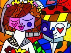Limited Edition Fine Art Print by the Brazilian Artist Romero Britto - Paris Art Web Paris Kunst, Paris Art, Arte Pop, Modern Pop Art, Art Web, Graffiti Painting, Artwork Display, Hippie Art, Sculpture