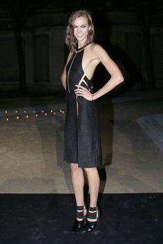 Karlie Kloss in an edgy cutout dress by Alexander Wang.