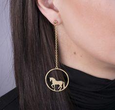 Náušnice PIAF - MINI kôň na retiazke | Katarina ZIAK