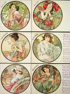 The Months July ~ December, 1899, Alphonse Mucha