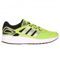 Adidas Duramo 6 Running Trainer Mens - Slime / Metallic Silver / Black Mens Running Trainers, Slime, Asics, Adidas Sneakers, Metallic, Shoes, Black, Fashion, Moda