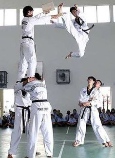 Taekwondo drill in Korea we need to do this at our club with our demo team.....#taekwondodrills #taewondokicks