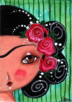 I lve this Frida Kahlo Diego Rivera, Art Journal Inspiration, Painting Inspiration, Frida And Diego, Frida Art, Arte Popular, Expo, Mexican Folk Art, Outdoor Art