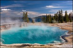 Hot Springs at Yellowstone National Park - Wyoming, USA
