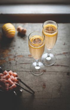 Champagne Cocktail with Homemade Angostura Sugar Cubes by carey nershi, via Flickr