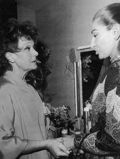 EVGENIA GL Maria Callas with Judy Garland