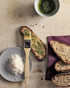 Crostini with Herb Oil