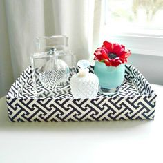s 17 brilliant ways to reuse your empty cardboard boxes, home decor, repurposing upcycling, Cut off the Bottom for a Decorative Tray