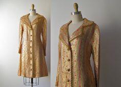 vintage 1970s coat // Oscar de la Renta