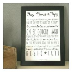 Une affiche à offrir aux  grand parents !   vous cherchez LE cadeau original pour Mamie et papy? il est ici!  entièrement personnalisable vous pouvez commander la version standar - 16827307