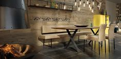 El Paso I haas Kitchen Benches, Kitchen Dining, Dining Room, Dream Home Design, House Design, Esstisch Design, Kitchen Room Design, Banquette, Dinning Table