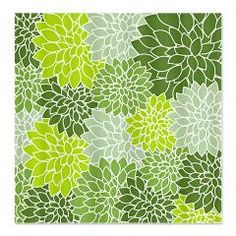 Vintage green floral print shower curtain