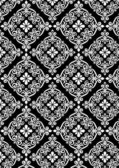 А4-фон Textile Patterns, Embroidery Patterns, Textile Design, Vector Pattern, Pattern Design, Art Chinois, Pattern Coloring Pages, Art Japonais, Black And White Background