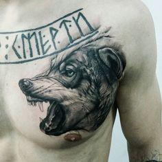 #тату #москва #татусалон #татумастер #татумск #волк #оскал #татуировка #глебэрвье #tattoo #tattooed #tattoos #tattoorussia #ink #moscow #art