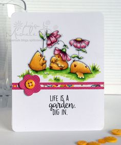 CHICKS life is a garden card by Michele Boyer