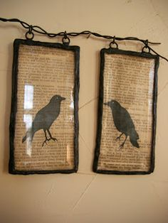 """a flock of crows is called a """"murder"""" of crows ... this tutorial is easy & the result is chic."""