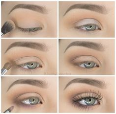 50 perfekte Make-up-Tutorials für grüne Augen 50 makeup tutorials for green eyes -Simple Pretty Eye Shadow Tutorial – amazing green eye makeup tutorials for work for prom for weddings for every day easy step by step diy guide for beautiful natural look- t Eyeshadow Tutorial For Beginners, Makeup Tutorial Step By Step, Makeup For Beginners, Beginner Eyeshadow Tutorial, Brown Smokey Eye Makeup Tutorial, Natural Eyeshadow Tutorials, Make Up Ideas Step By Step, Eye Makeup Tutorials, Simple Makeup Tutorial