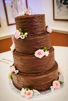 chocolate wedding cakes with red roses 5 tier hexagon wedding cake with fresh roses and 12804