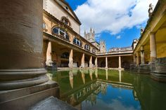 While the 73-mile-long Hadrian's Wall is England's biggest Roman landmark, the baths in the Somerset spa town of Bath are a more relaxing way to soak up the culture.