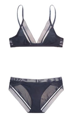 Calvin Klein | Icon stretch-satin soft-cup triangle bra and briefs