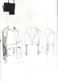 Fashion Sketchbook - jacket drawings; fashion design development; fashion portfolio // Alexandra Baldwin