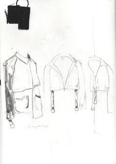 Fashion Sketchbook - jacket drawings; fashion design development; fashion portfolio // Alexandra Baldwin