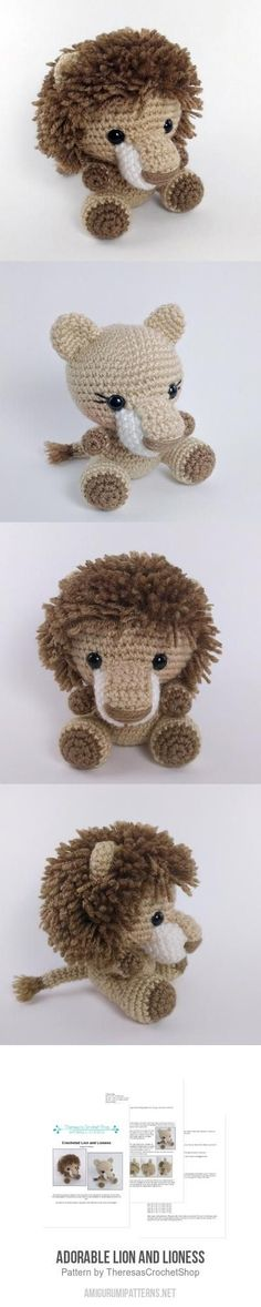 Adorable Lion And Lioness Amigurumi Pattern - Crochet Lion