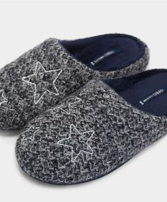 2f219301b8cf Embroidered stars mule slippers
