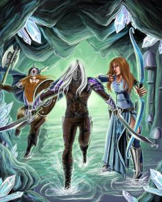 Bruener, Drizzt and Catti-brie