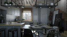 kuchnia-z-blatem-debowym Loft House, Nordic Style, Scandinavian, Kitchen Ideas, Ikea, Conference Room, Kitchens, Industrial, Living Room
