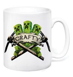 Crafty Crest Mug by GameTee (£7.99) #Minecraft