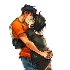I will forever ship Percabeth, but for some reason I really love this picture... I can't stop staring at it. Maybe it's just how happy Nico looks, I dunno...