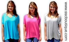 Basic V-neck Pikos $25!!!! A seasonal must have! Comfy & a flattering fit!!! S- L! Order yours now!!! http://www.sscboutique.com/collections/new-arrivals/products/basic-v-neck-pikos #piko #pikotops #solidtops #springtops