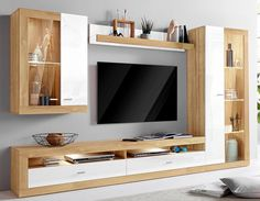 Living Room Wall Units, Living Room Tv Unit Designs, Living Room Decor, Living Walls, Modern Tv Room, Modern Tv Wall Units, Tv Cabinet Design, Tv Wall Design, Hall Room Design