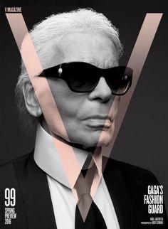 Hedi Slimane and Karl Lagerfeld Team Up for V MAGAZINE