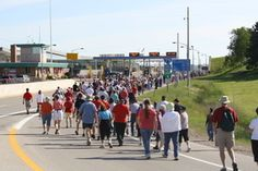 The last Saturday in June is the International Bridge Walk in Sault Ste. Marie, MI. Walk across for an experience you wont forget!