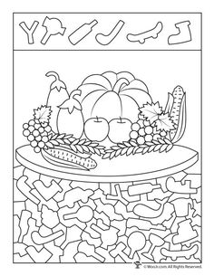 Thanksgiving Hidden Pictures Printables | Woo! Jr. Kids Activities Worksheets For Kids, Activities For Kids, Hidden Pictures Printables, Hidden Picture Puzzles, School Folders, Hidden Objects, Cool Coloring Pages, Pre School, Harvest