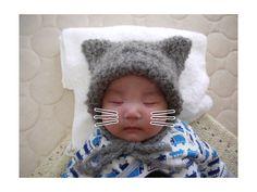 [超簡単!ベビー猫耳帽~完成~] by しろクロTsubutsubu