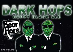 Cerveja Beer Here Dark Hops, estilo Black IPA, produzida por Beer Here, Dinamarca. 8.5% ABV de álcool.