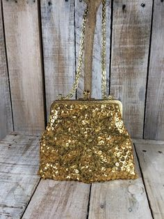 Evening Bags - Gold Sequin - clutch purses - evening handbags - Gold clutch purse - evening clutch - designer purses - Small Shoulder Bags  by BostonInventory