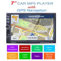 88.26$  Watch now - http://alio48.worldwells.pw/go.php?t=32764556030 - 2 din car mp5 player GPS USB universal car radio audio auto car parking sensor stereo in dash Bluetooth Free map+Camera For VW 88.26$