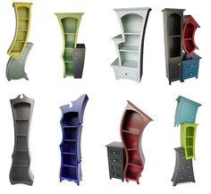tim burton shelf   ... ! Looks like they come from a Tim Burton movie. I want them all