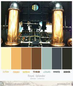 Steampunk Splendor Color Palette Inspiration at the Oneyed hedgehog.com Design Studio